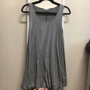 striped T-shirt tank dress